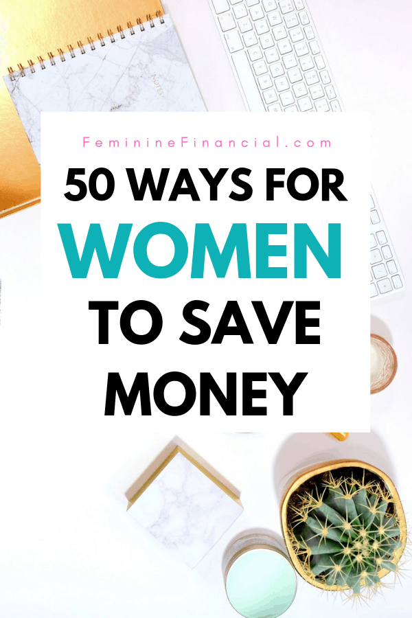 Being a woman is super expensive. After basic necessities it's hard to find money to save. Learn 50 ways that women can save money and get out of debt. This extensive list includes ways to save money on your groceries, save money on utilities, save money on food, save money on shopping, and save money by budgeting. #personalfinance #waystosavemoney #savemoney #moneymatters #femininefinancial