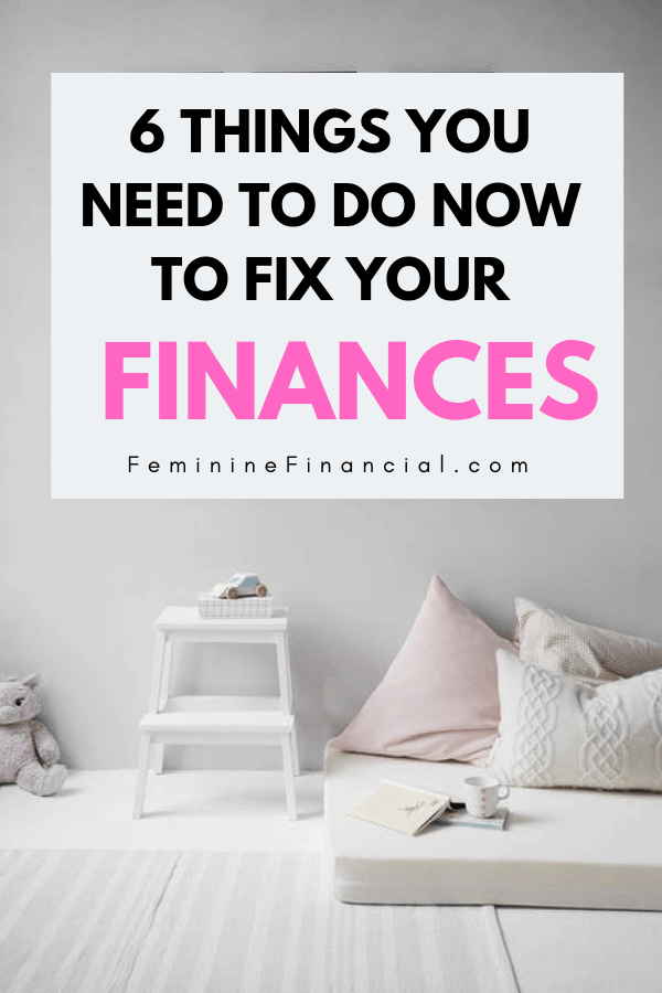 If you are living pay check to pay check or direct deposit to direct deposit there are things you should definitely be doing to fix your finances. Discover how to fix your finances and what you should be doing if you are broke and struggling. You can fix your finances if you focus on a few key personal finance strategies. #finance #personalfinance #fixyourfinances #womenfinance #financialfreedom #femininefinancial