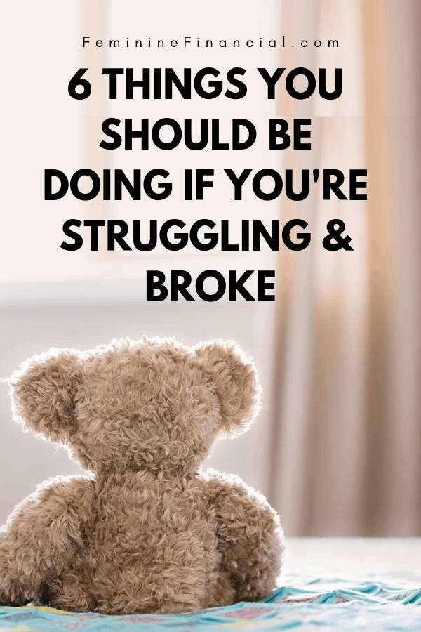 Are you Struggling and Broke? If you are living pay check to pay check or direct deposit to direct deposit there are things you should definitely be doing to fix your finances. Discover how to fix your finances and what you should be doing if you are broke and struggling. You can fix your finances if you focus on a few key personal finance strategies. #finance #personalfinance #fixyourfinances #womenfinance #financialfreedom #femininefinancial